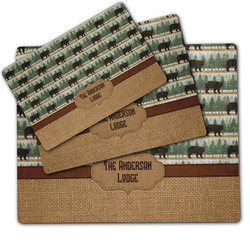 Cabin Dog Food Mat w/ Name or Text