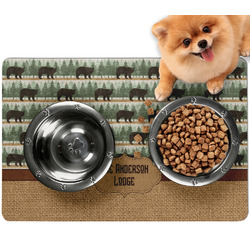 Cabin Dog Food Mat - Small w/ Name or Text