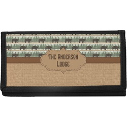 Cabin Canvas Checkbook Cover (Personalized)