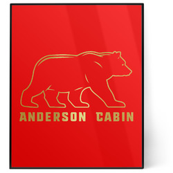 Cabin 8x10 Foil Wall Art - Red (Personalized)