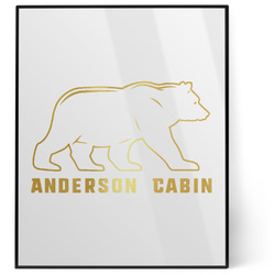 Cabin 8x10 Foil Wall Art - White (Personalized)