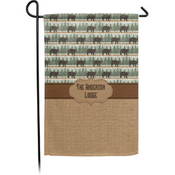 Cabin Single Sided Garden Flag (Personalized)