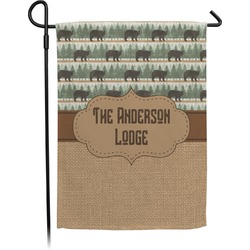Cabin Garden Flag (Personalized)
