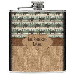 Cabin Genuine Leather Flask (Personalized)