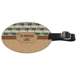 Cabin Genuine Leather Oval Luggage Tag (Personalized)