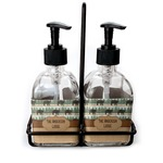 Cabin Soap & Lotion Dispenser Set (Glass) (Personalized)