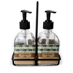 Cabin Soap & Lotion Dispenser Set (Glass) (Personalized)