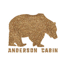 """Cabin Glitter Iron On Transfer - Up to 15""""x15"""" (Personalized)"""