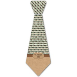 Cabin Iron On Tie (Personalized)