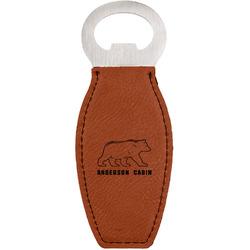 Cabin Leatherette Bottle Opener (Personalized)