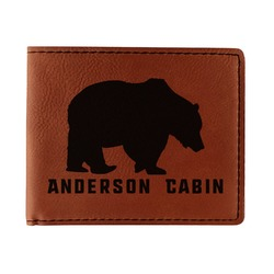 Cabin Leatherette Bifold Wallet (Personalized)