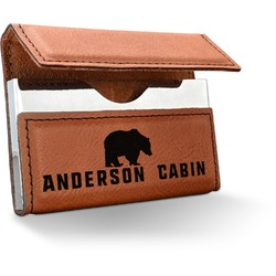 Cabin Leatherette Business Card Case (Personalized)