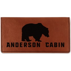 Cabin Leatherette Checkbook Holder (Personalized)