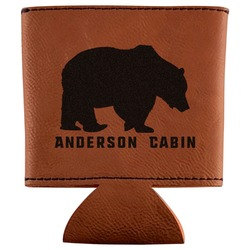Cabin Leatherette Can Sleeve (Personalized)