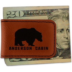 Cabin Leatherette Magnetic Money Clip (Personalized)