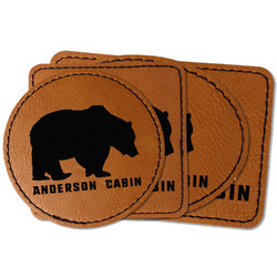Cabin Faux Leather Iron On Patch (Personalized)