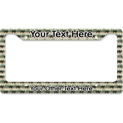 Cabin License Plate Frame (Personalized)