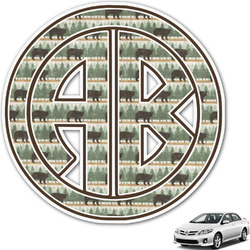 Cabin Monogram Car Decal (Personalized)