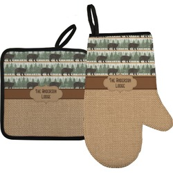 Cabin Oven Mitt & Pot Holder (Personalized)