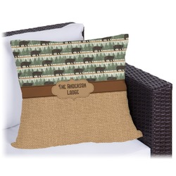 Cabin Outdoor Pillow (Personalized)