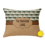 Cabin Outdoor Throw Pillow (Rectangular) (Personalized)