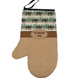 Cabin Left Oven Mitt (Personalized)