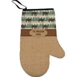 Cabin Right Oven Mitt (Personalized)