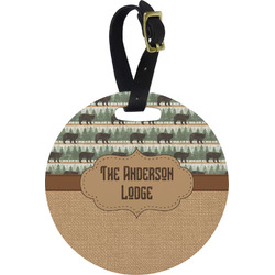 Cabin Round Luggage Tag (Personalized)