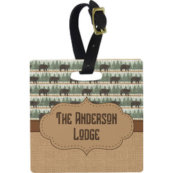 Cabin Plastic Luggage Tag - Square w/ Name or Text