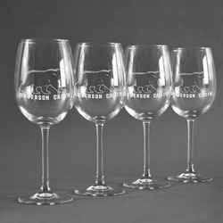 Cabin Wine Glasses (Set of 4) (Personalized)