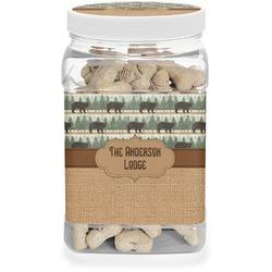 Cabin Dog Treat Jar (Personalized)