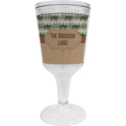Cabin Wine Tumbler - 11 oz Plastic (Personalized)