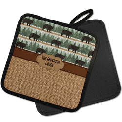 Cabin Pot Holder w/ Name or Text