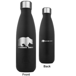 Cabin RTIC Bottle - Black - Engraved Front & Back (Personalized)