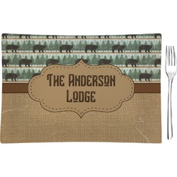Cabin Rectangular Appetizer / Dessert Plate (Personalized)