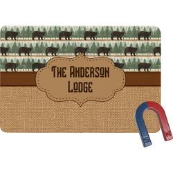 Cabin Rectangular Fridge Magnet (Personalized)