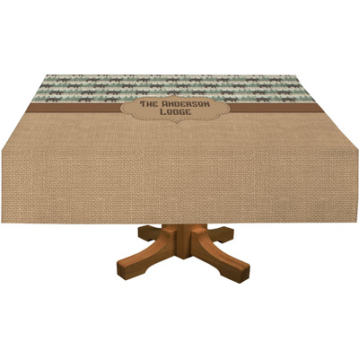 """Cabin Tablecloth - 58""""x102"""" (Personalized)"""