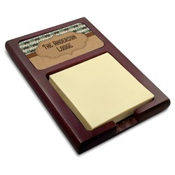 Cabin Red Mahogany Sticky Note Holder (Personalized)