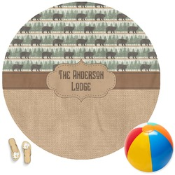 Cabin Round Beach Towel (Personalized)