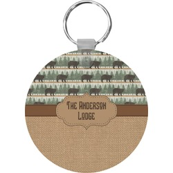 Cabin Round Keychain (Personalized)