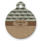 Cabin Round Pet Tag (Personalized)