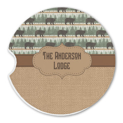 Cabin Sandstone Car Coasters (Personalized)