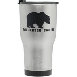 Cabin RTIC Tumbler - Silver (Personalized)