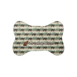 Cabin Bone Shaped Dog Food Mat (Small) (Personalized)