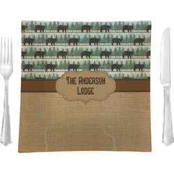 Cabin Square Dinner Plate (Personalized)