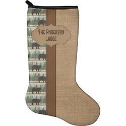Cabin Christmas Stocking - Neoprene (Personalized)