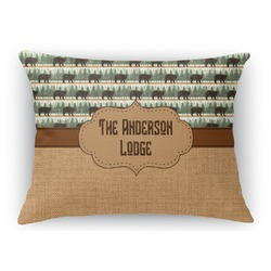 Cabin Rectangular Throw Pillow Case (Personalized)
