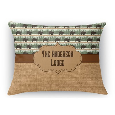Cabin Rectangular Throw Pillow Case Personalized