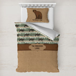 Cabin Toddler Bedding w/ Name or Text