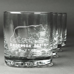 Cabin Whiskey Glasses (Set of 4) (Personalized)
